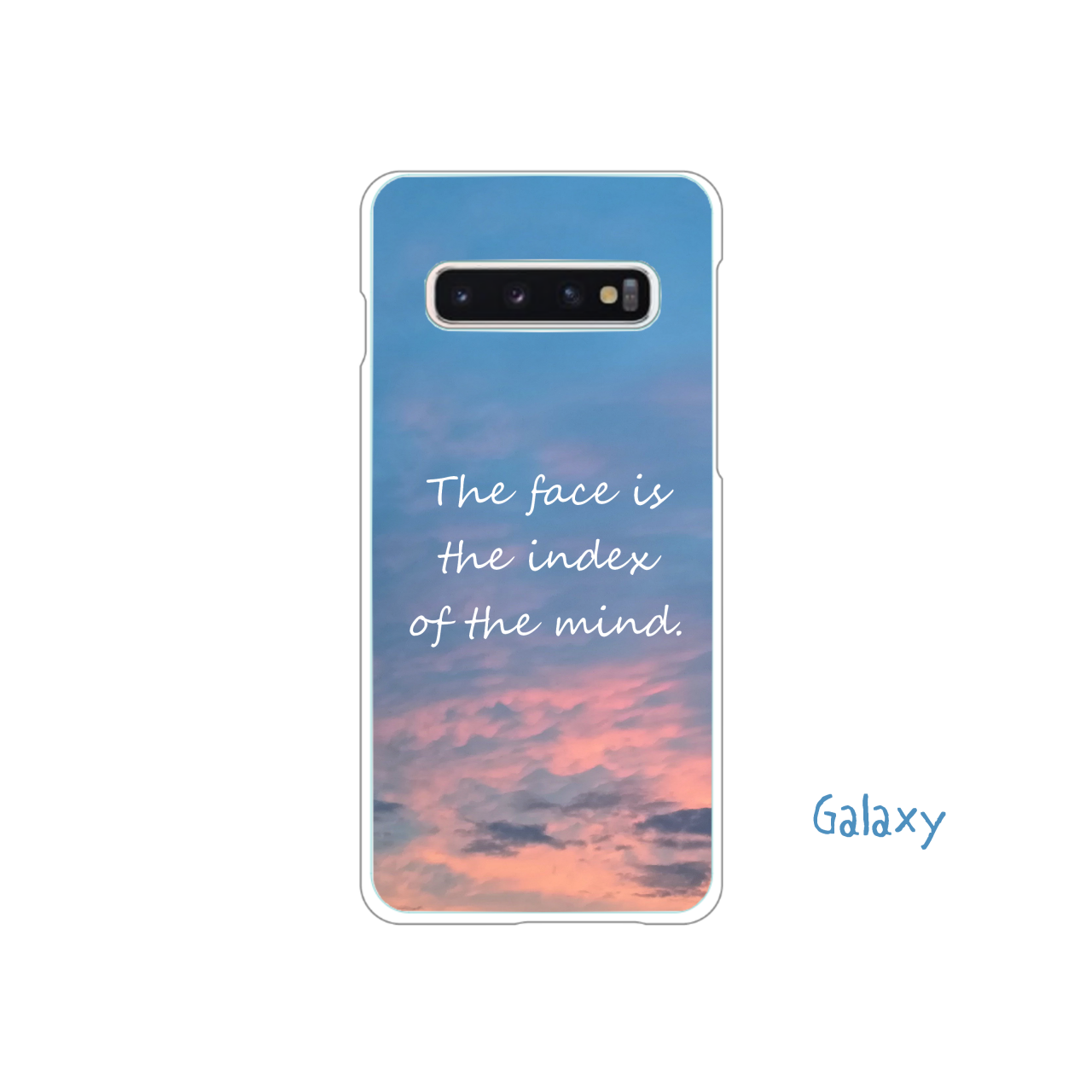 The face is the index of the mind.     (Galaxy) Galaxy S10+ (SC-04L/SCV42)