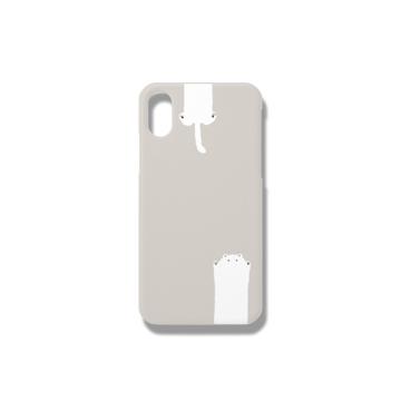 のびるねこ(白猫ベージュ) iPhoneケース iPhoneX/Xs