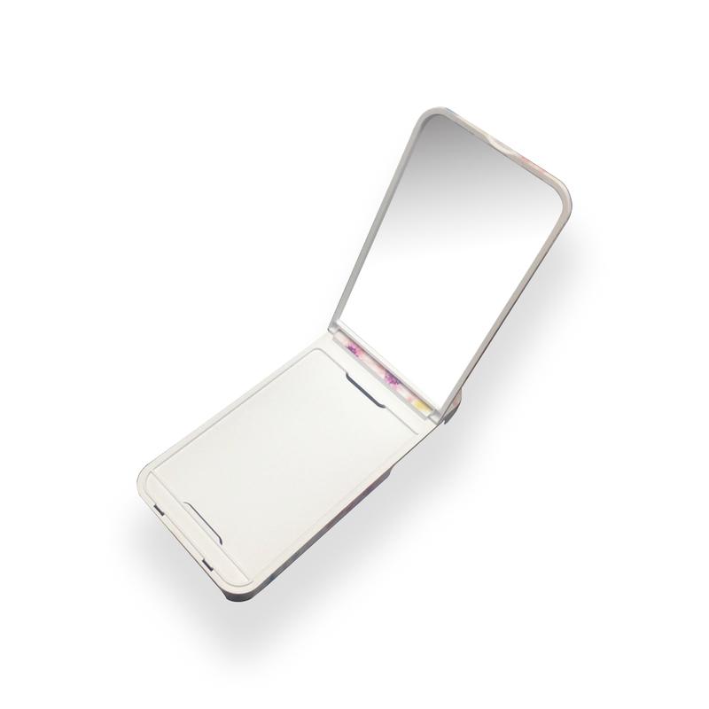 ぶちょうイラスト ロゴなし【iPhone7/iPhone8】ミラーケース カード収納付 iPhone8_ミラーケース
