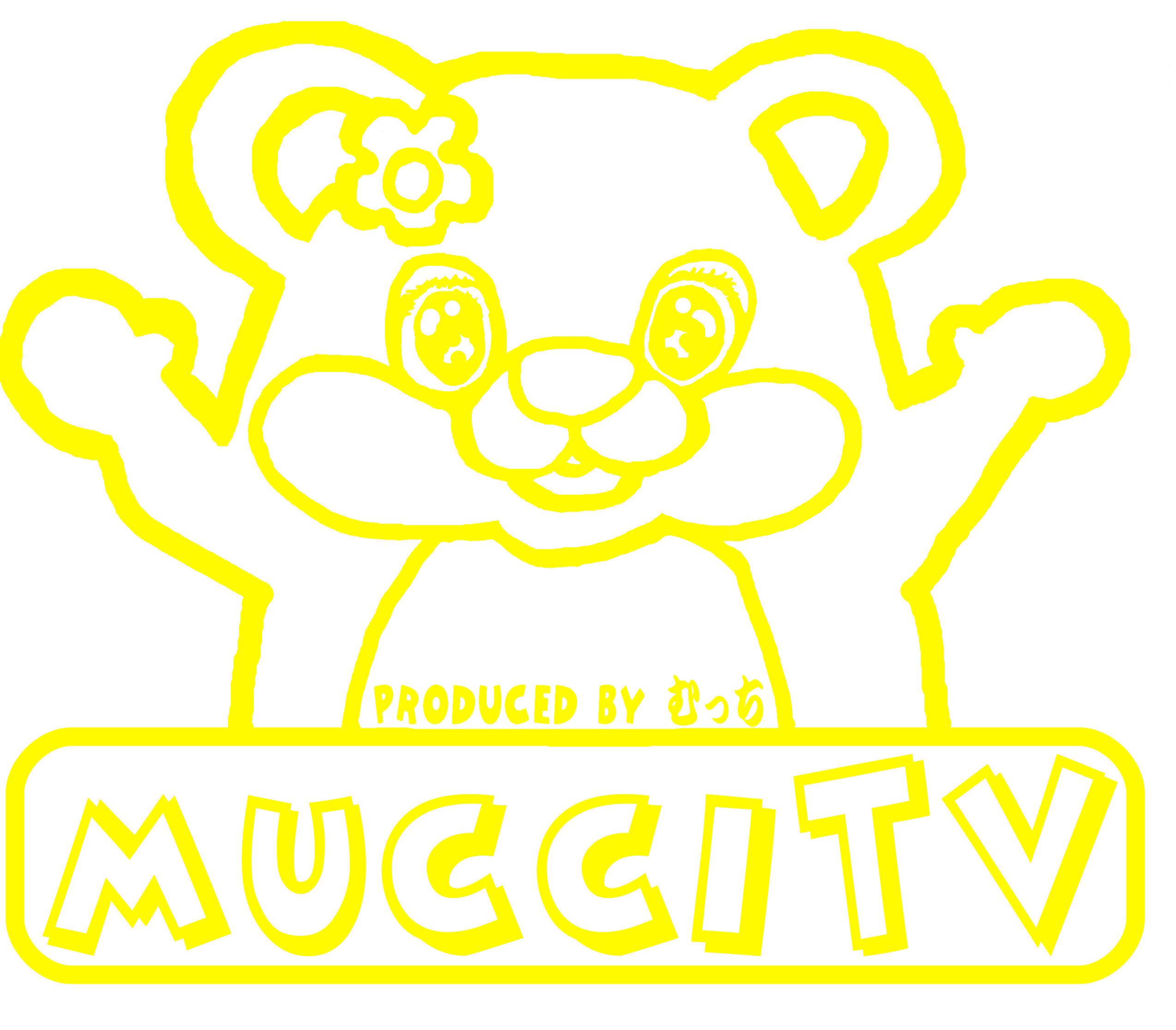 mucciTVデザインYouTubeチャンネルmucciTV内でmucciが着ているデザインと同じもの。 定番Tシャツ